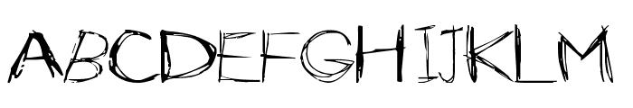 Slender Font LOWERCASE