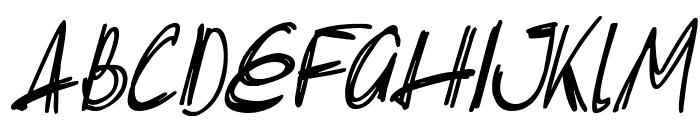 Slenderscratch Italic Font UPPERCASE
