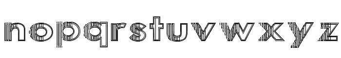 Sliced Iron Font LOWERCASE