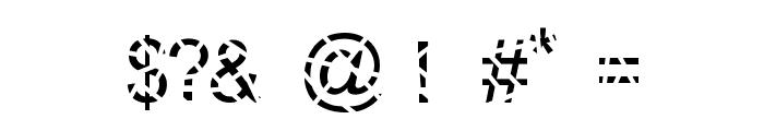 Sliced Font OTHER CHARS