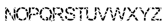 Sliced Font UPPERCASE