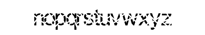 Sliced Font LOWERCASE