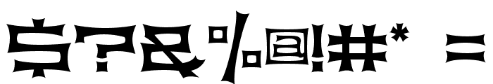 Slickhouse Font OTHER CHARS