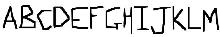 Slightly Techno Font UPPERCASE