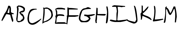 Slim Jim Font UPPERCASE