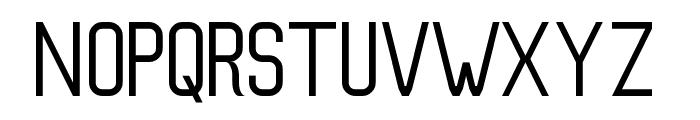 Slim Regular Font UPPERCASE