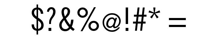 SlimSansSerif Font OTHER CHARS