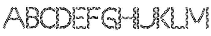 Slinked  Font UPPERCASE