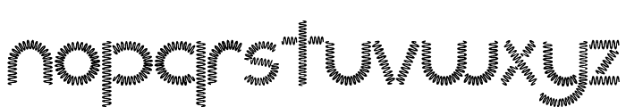 Slinked  Font LOWERCASE