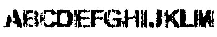 Slippy Font UPPERCASE