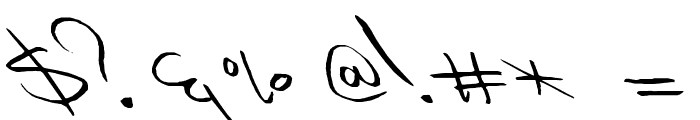 Slipstream Sweetheart Font OTHER CHARS