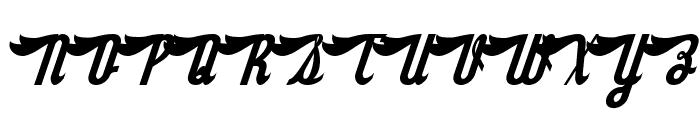 SloeGinRickey-Regular Font UPPERCASE