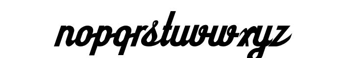 SloeGinRickey-Regular Font LOWERCASE