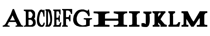 Sloopy Font UPPERCASE