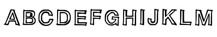 Sloppy Comic Font UPPERCASE