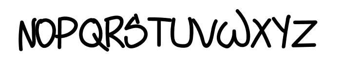 Sloppy Hand Font UPPERCASE