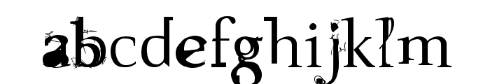 Sloth Font LOWERCASE