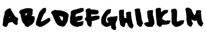 Slouch... Font UPPERCASE