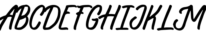 Sloutthy Font UPPERCASE