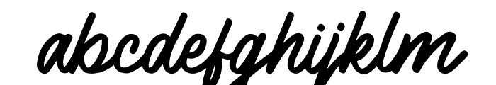 Sloutthy Font LOWERCASE