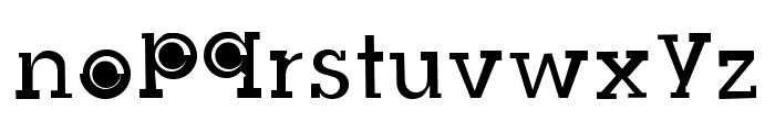 Slug Bug Filled Regular Font LOWERCASE