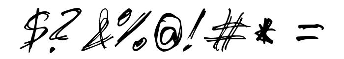 slantorama Font OTHER CHARS
