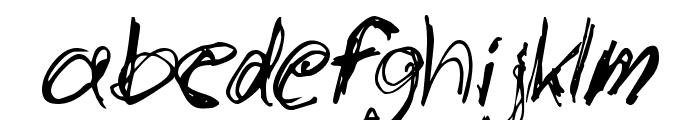 slantorama Font LOWERCASE