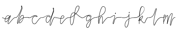 slowdance Font LOWERCASE