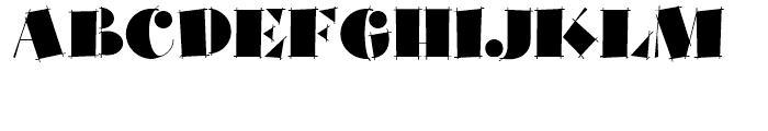 Slapdash Deco NF Regular Font UPPERCASE
