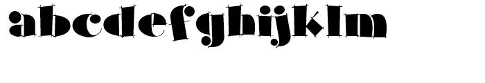 Slapdash Deco NF Regular Font LOWERCASE