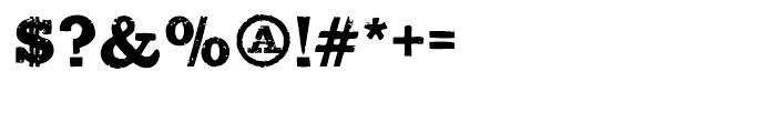 Sluicebox Regular Font OTHER CHARS