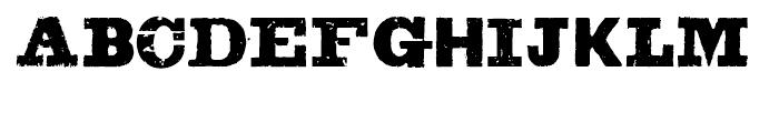 Sluicebox Regular Font UPPERCASE
