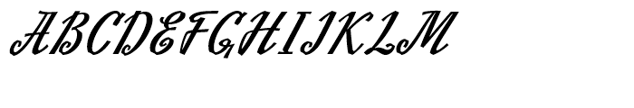 Slutsker Script Bold Font UPPERCASE