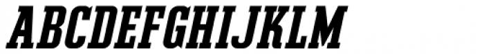 Slab Compact JNL Oblique Font UPPERCASE