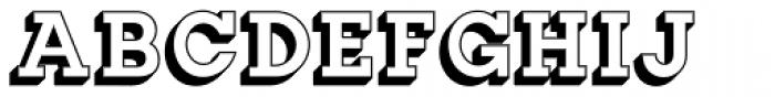 Slab Happy 3D Font UPPERCASE