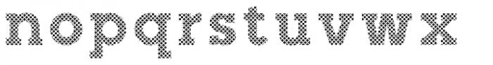 Slab Happy Crosshatch Font LOWERCASE