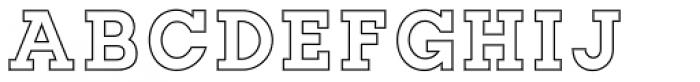 Slab Happy Outline Font UPPERCASE