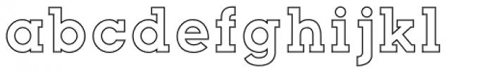 Slab Happy Outline Font LOWERCASE