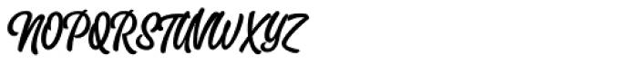 Slacker Brush Font UPPERCASE