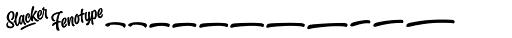 Slacker Extras Font LOWERCASE