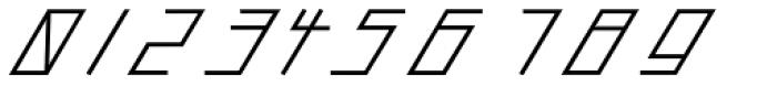 Slanted ITALIC shift SemiBold Font OTHER CHARS