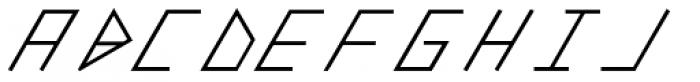 Slanted ITALIC shift SemiBold Font UPPERCASE