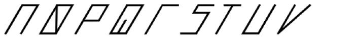 Slanted ITALIC shift SemiBold Font LOWERCASE
