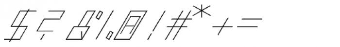 Slanted ITALIC shift Thin Font OTHER CHARS