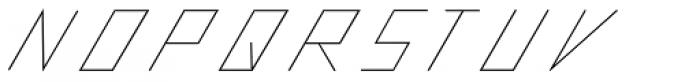 Slanted ITALIC shift Thin Font UPPERCASE