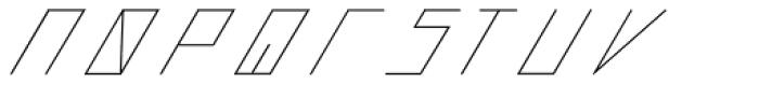 Slanted ITALIC shift Thin Font LOWERCASE