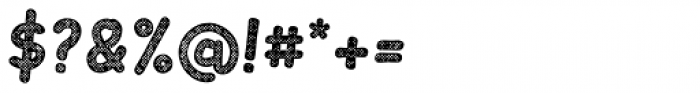 Slantinel Bold Grid Font OTHER CHARS