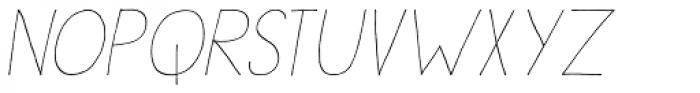 Sleepy Time Italic Font LOWERCASE