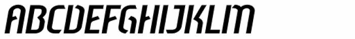 Sliced Open Down Tilted Font UPPERCASE