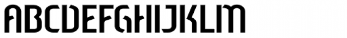 Sliced Open Down Font UPPERCASE